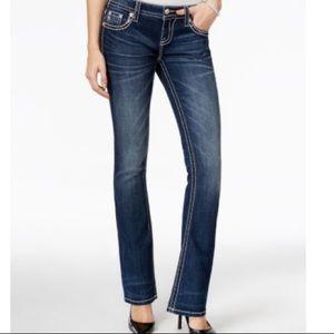 Miss Me Boot Cut Embellished Flap Pocket Jeans